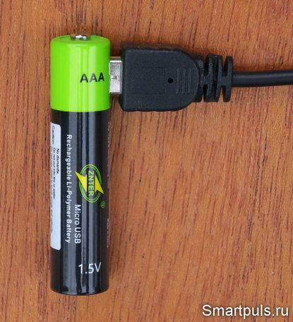 li-ion аккумулятор AAA 1.5 В - тест и обзор