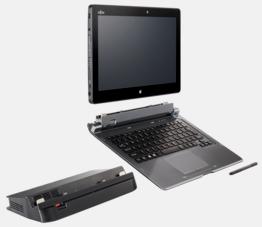 """планшет Fujitsu stylistic q665 в """"максимальной"""" комплектации (планшет, клавиатура, док-станция)"""