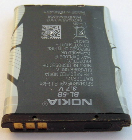 li-ion аккумулятор nokia bl-5b для смартфонов